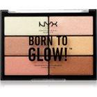NYX Professional Makeup Born To Glow paletka rozjasňovačov