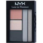 NYX Professional Makeup Love in Florence paleta očních stínů s aplikátorem