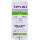 Pharmaceris T-Zone Oily Skin Sebo-Almond Peel creme facial de limpeza regulador para noite para pele desgastada