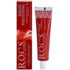 R.O.C.S. Magic Whitening bleichende Zahnpasta gegen Zahnschmelzflecken