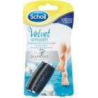 Scholl Velvet Smooth nadomestne glave za električno pilico za stopala 2 ks