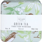 Scottish Fine Soaps Green Tea Bar Soap in a Tin Container