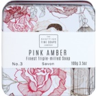 Scottish Fine Soaps Pink Amber luksuzno milo v kovinasti škatli