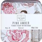 Scottish Fine Soaps Pink Amber Săpun de lux în borcan de metal