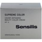 Sensilis Supreme Color tónovaný protivráskový krém pro sjednocení pleti SPF15