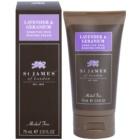 St. James Of London Lavender & Geranium krém na holenie pre mužov 75 g cestovné balenie