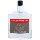 St. James Of London Sandalwood & Bergamot gel post-rasatura per uomo 50 ml senza confezione confezione da viaggio