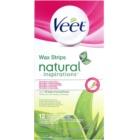 Veet Natural Inspirations Enthaarungswachsstreifen für normale und trockene Haut