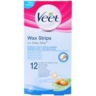 Veet Wax Strips bandas de cera depilatoria para pieles sensibles