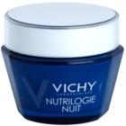 Vichy Nutrilogie Intensivcreme für die Nacht  für trockene bis sehr trockene Haut
