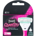 Wilkinson Sword Quattro for Women Sensitive Ersatzklingen 3 pc