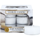 Yankee Candle Baby Powder čajová svíčka 12 x 9,8 g