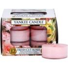 Yankee Candle Fresh Cut Roses čajová svíčka 12 x 9,8 g