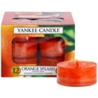 Yankee Candle Orange Splash čajová svíčka 12 x 9,8 g