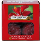 Yankee Candle Pink Hibiscus čajová svíčka 12 x 9,8 g