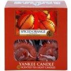 Yankee Candle Spiced Orange čajová svíčka 12 x 9,8 g
