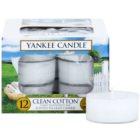 Yankee Candle Clean Cotton vela do chá 12 x 9,8 g