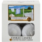Yankee Candle Clean Cotton vela do chá 12 x 9,8 g