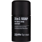 Zew For Men Natural Bar Soap for Face, Body and Hair 3 In 1