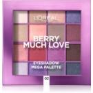 L'Oréal Paris Eyeshadow Mega Palette Berry Much Love paleta očních stínů