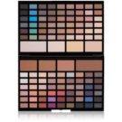 Makeup Revolution Pro HD Eyes & Contour paleta očních stínů a konturovacích pudrů s rozjasňovačem