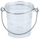 Yankee Candle Glass Bucket skleněný svícen na votivní svíčku I. Clear glass