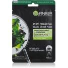 Garnier Skin Naturals Pure Charcoal  czarna maska tekstylna z ekstraktem z wodorostów