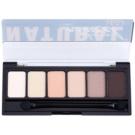 NYX Professional Makeup The Natural paleta cieni do powiek z aplikatorem