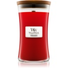 Woodwick Pomegranate świeczka zapachowa  z drewnianym knotem
