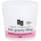 AA Cosmetics Dermo Technology Anti-Gravity Lifting creme de modelagem com efeito antirrugas 55+  50 ml