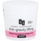 AA Cosmetics Dermo Technology Anti-Gravity Lifting krem regenerujący na noc efekt regeneracyjny 55+ (Collagen 3D Complex, Argan Oil) 50 ml