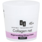 AA Cosmetics Dermo Technology Collagen Net Builder regenerierende Nachtcreme mit Lifting-Effekt 45+ (Collagen 3D Complex, Vitamin E) 50 ml