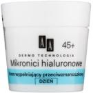 AA Cosmetics Dermo Technology Hyaluronic Microthreads  vyplňující denní krém proti vráskám 45+ (Hial Multi Complex, Coenzyme Q10) 50 ml