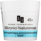 AA Cosmetics Dermo Technology Hyaluronic Microthreads  Re-Plumping Anti-Wrinkle Moisturiser 45+  50 ml