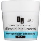 AA Cosmetics Dermo Technology Hyaluronic Microthreads  omlazující a vyhlazující noční krém 45+  50 ml