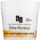 AA Cosmetics Age Technology Golden Therapy festigende Creme für Hals und Dekolleté 60+ 50 ml