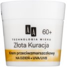 AA Cosmetics Age Technology Golden Therapy crème de jour anti-rides 60+  50 ml