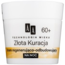 AA Cosmetics Age Technology Golden Therapy crema regeneratoare de noapte anti-rid 60+  50 ml