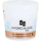 AA Cosmetics Hydro Algae Blue creme de noite nutritivo com efeito hidratante  50 ml