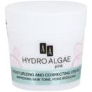 AA Cosmetics Hydro Algae Pink krema za poenotenje kože za hidracijo kože in zmanjšanje por (24H Hydra-Derm) 50 ml