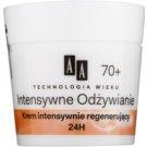 AA Cosmetics Age Technology Intensive Nutrition crème régénérante visage anti-rides 70+ (Argan Oil, Omega 3+6) 50 ml