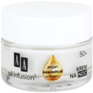 AA Cosmetics Oil Infusion2 Argan Inca Inchi 50+ regenerierende Nachtcreme mit remodellierendem Effekt Collagen+(Light Formula, Double Infusion) 50 ml