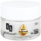 AA Cosmetics Oil Infusion2 Argan Inca Inchi 50+ crème de nuit régénératrice effet remodelant Collagen+(Light Formula, Double Infusion) 50 ml