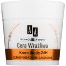 AA Cosmetics Age Technology Sensitive Skin beruhigende und regenerierende Creme für normale und trockene Haut (Rich 24H Cream, Micro Lipid System) 50 ml