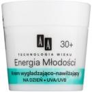 AA Cosmetics Age Technology Youthful Vitality crème hydratante et lissante visage  30+  50 ml