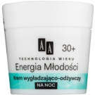 AA Cosmetics Age Technology Youthful Vitality crema de noapte hranitoare 30+  50 ml
