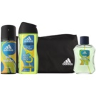Adidas Get Ready! lote de regalo II. eau de toilette 100 ml + gel de ducha 250 ml + spray corporal 150 ml + bolsa 1 ks