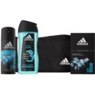 Adidas Ice Dive Gift Set V. Eau De Toilette 100 ml + Shower Gel 250 ml + Body Spray 150 ml + Bag