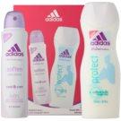 Adidas Soften Cool & Care darilni set I. dezodorant v pršilu 150 ml + gel za prhanje 250 ml