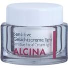 Alcina For Sensitive Skin könnyű arckrém az érzékeny bőr megnyugtatásához és erősítéséhez  50 ml